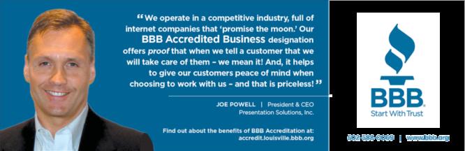 BBB Testimonial Joe Powell