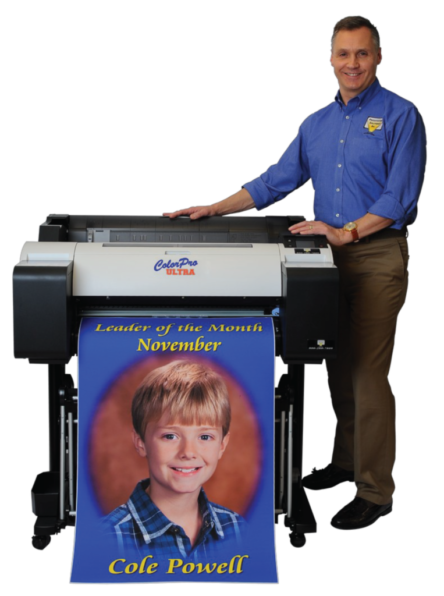 Color Pro Ultra School printer with presentation solutions rep