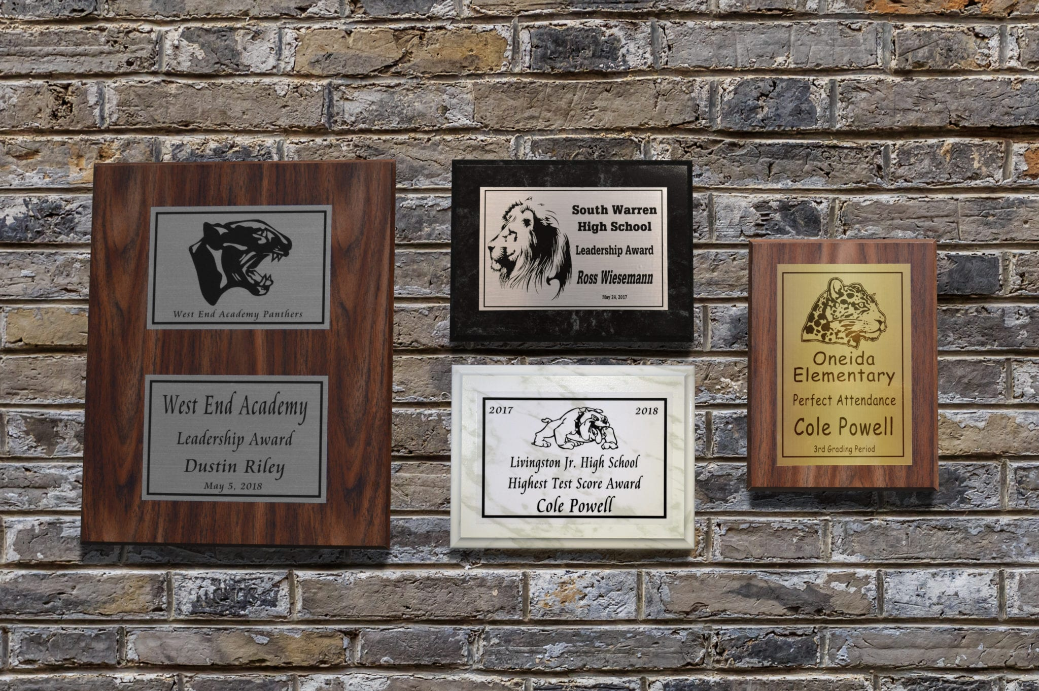Recognizer Plaques all school plaques