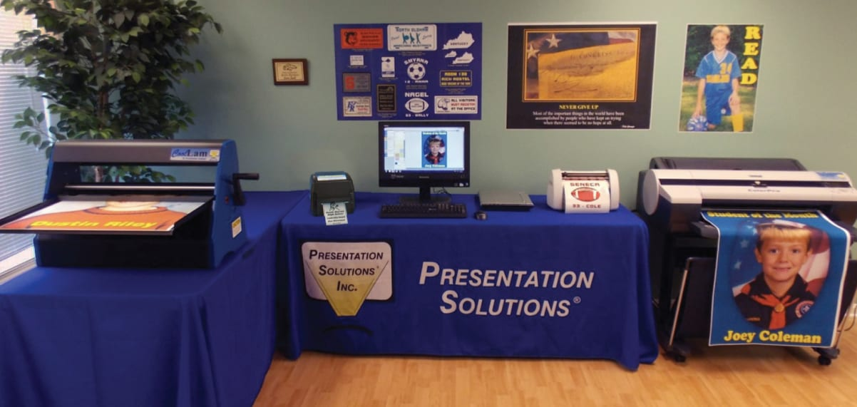 Presentation solutions' complete poster making, award making and laminating machine solution for your school.
