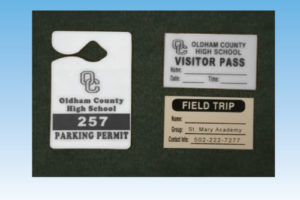 school parking pass maker example of school parking pass, visitor pass, and field trip pass