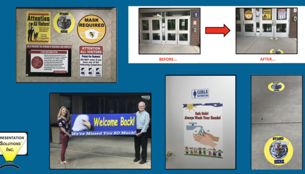 School reopening templates for your school poster in banner maker from presentation solutions