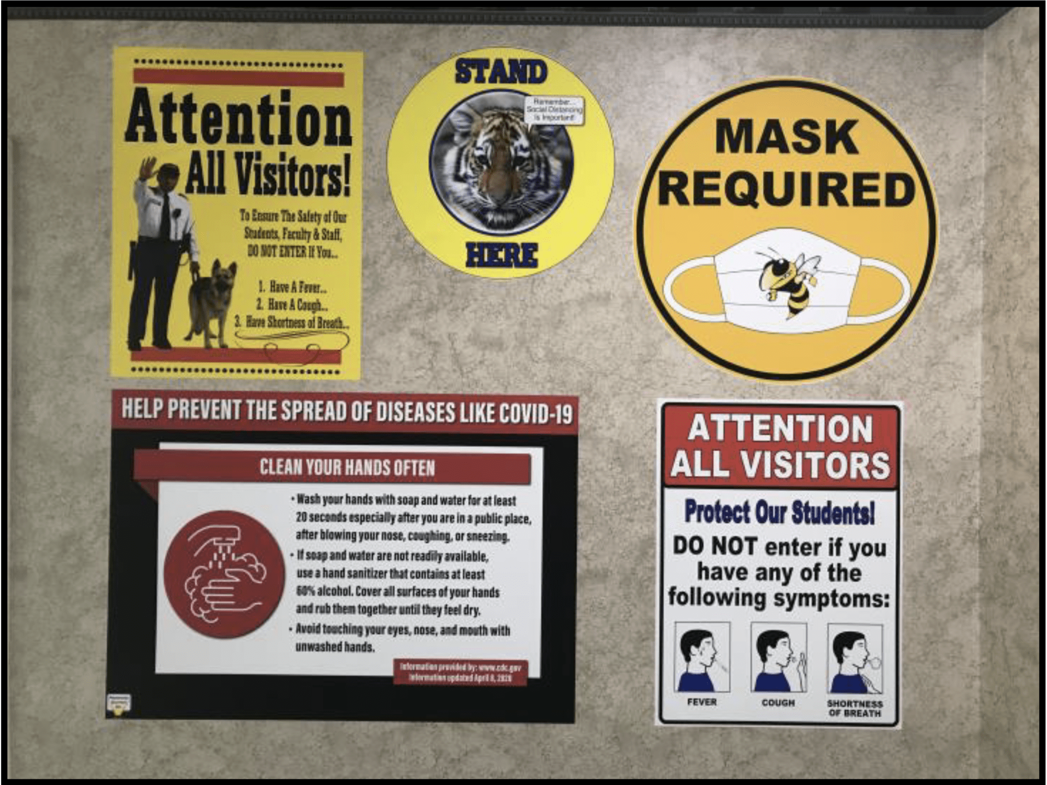 poster maker for schools covid templates warning signs