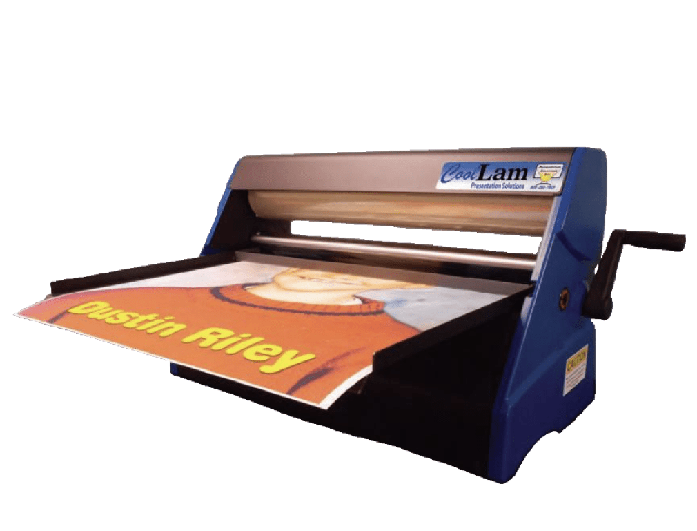 Check out our non-heat, non-electric Laminator!