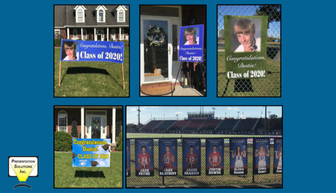 Graduation and senior photos turned into banners for schools to recognize students