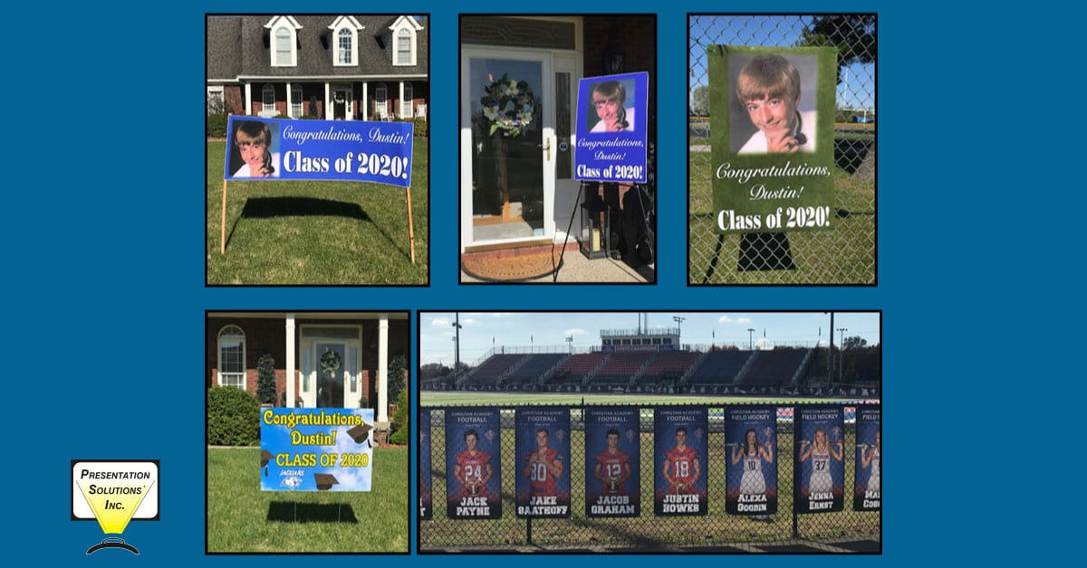 Graduation and senior photos turned into banners for schools