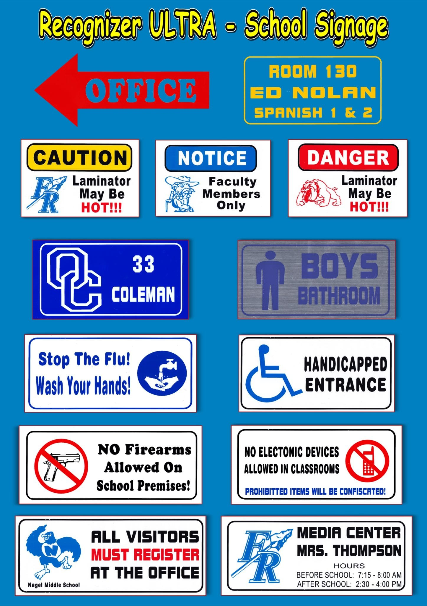 School Signage examples