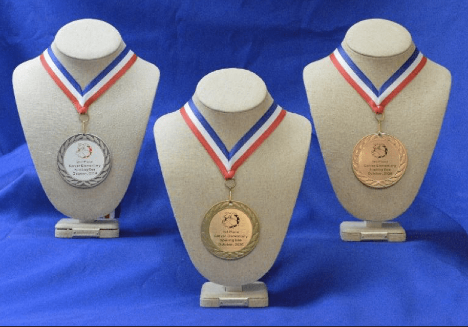Metals printed by the recognizer award maker for schools by presentation solutions