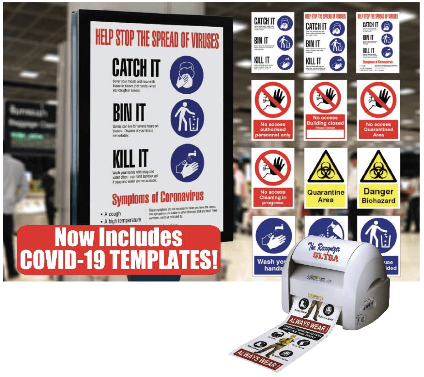 A few pictures of COVID-19 awareness signs for schools