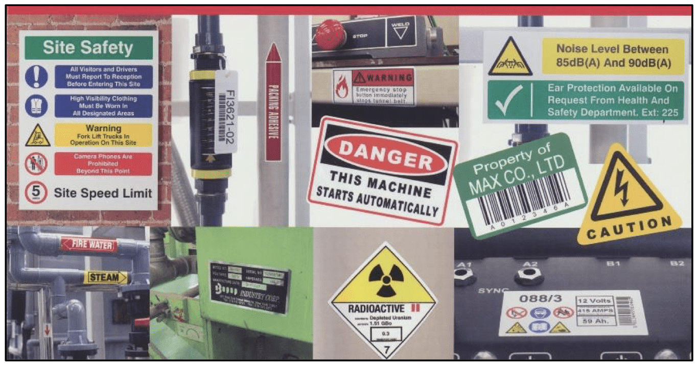 Facility safety magnets and stickers for schools