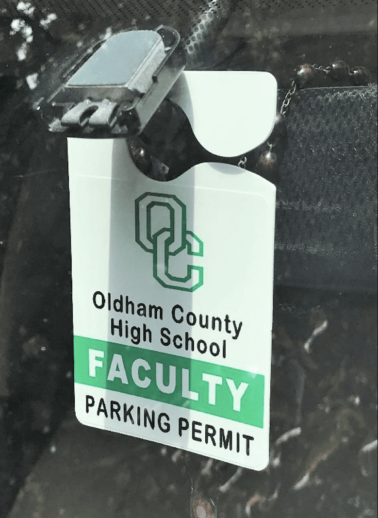 A faculty parking pass print it in house