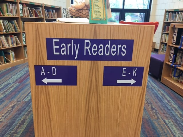 School signage for libraries and more