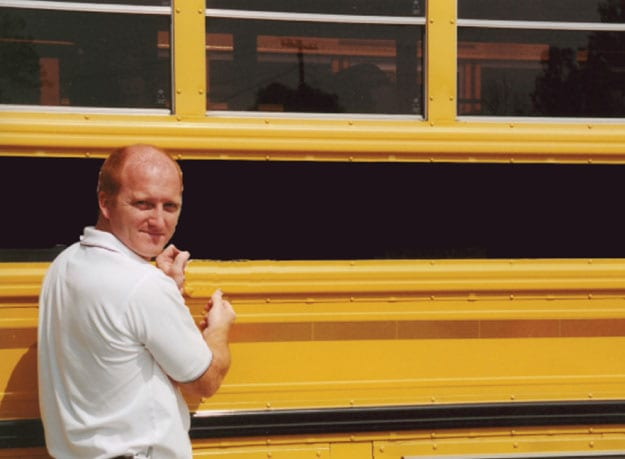 unmarked school bus