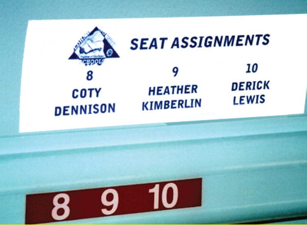 seating chart signage