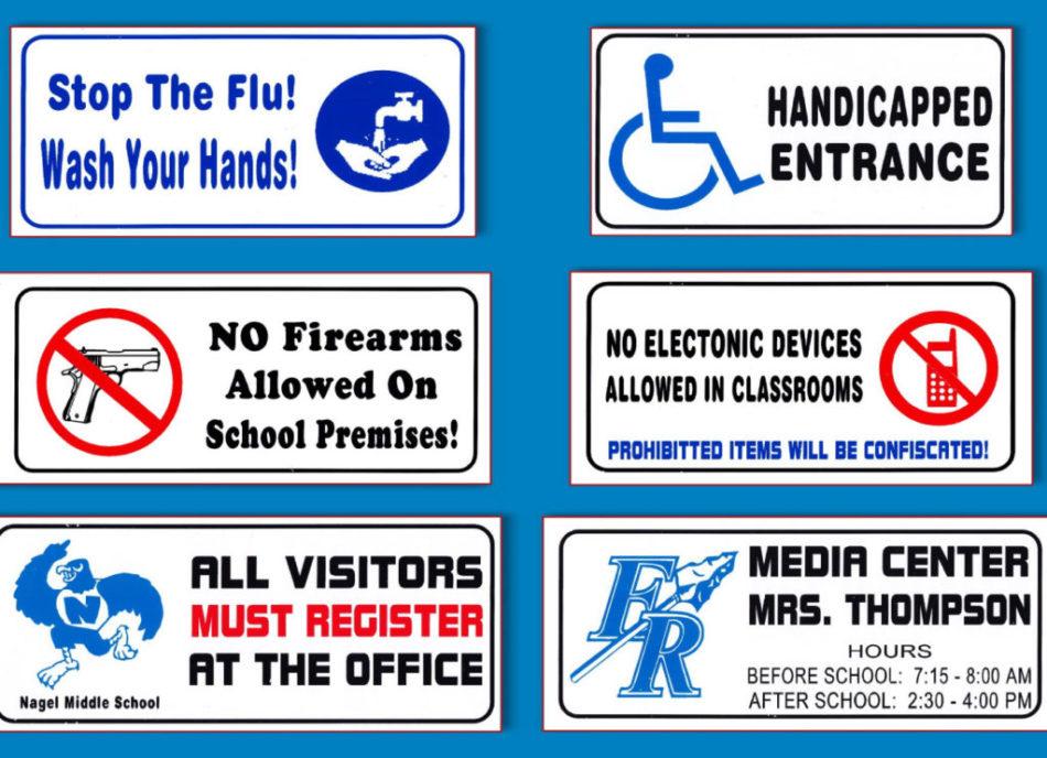 Facility symbols and signs