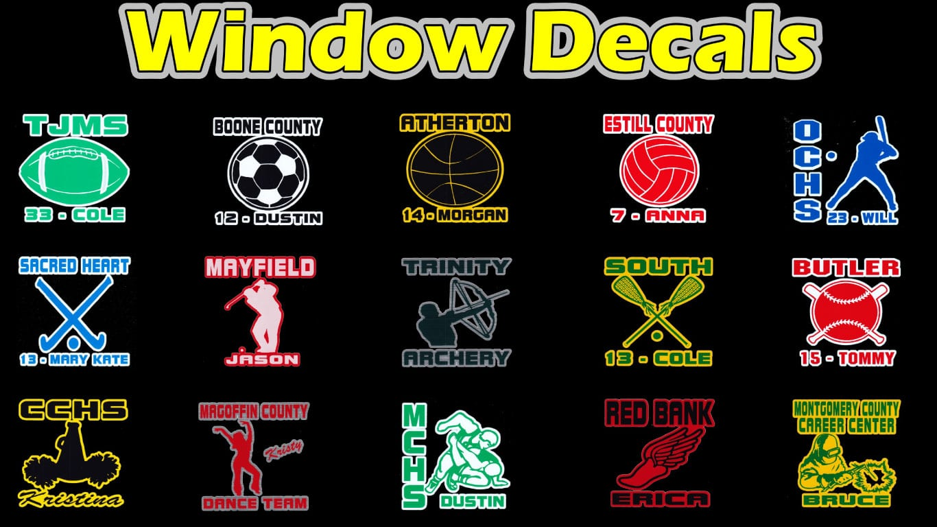 School fundraising window decals