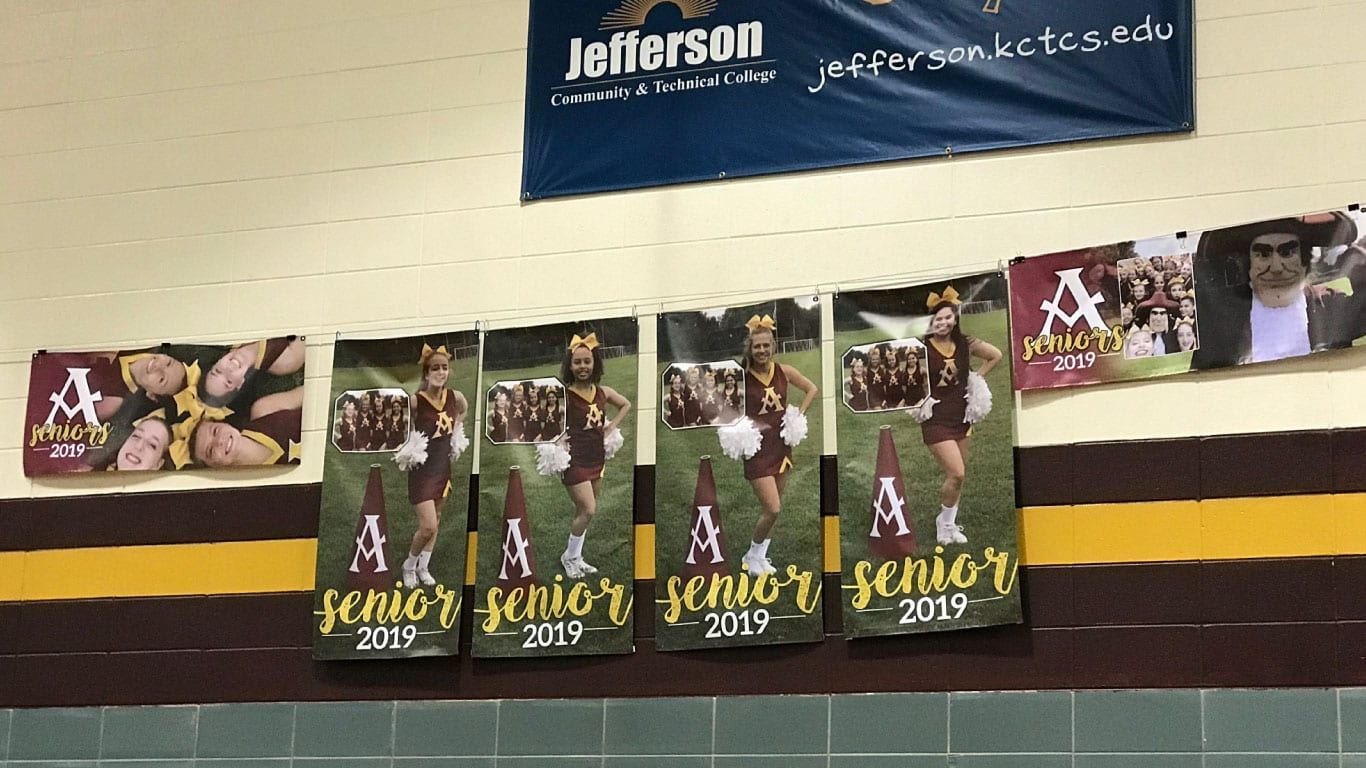 School posters and banners printed by the color pro school poster maker