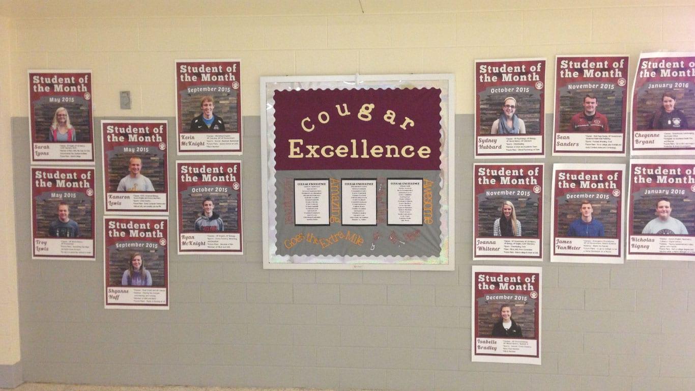 School hallway posters
