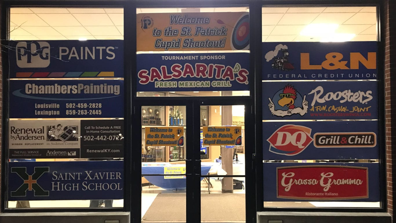 School sponsor signs printed by the color pro poster makers