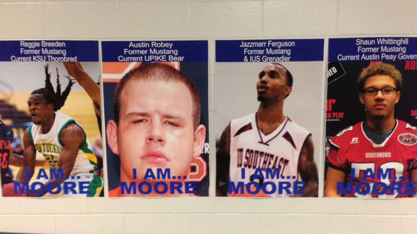 School athlete wall posters printed by the color pro poster maker machine