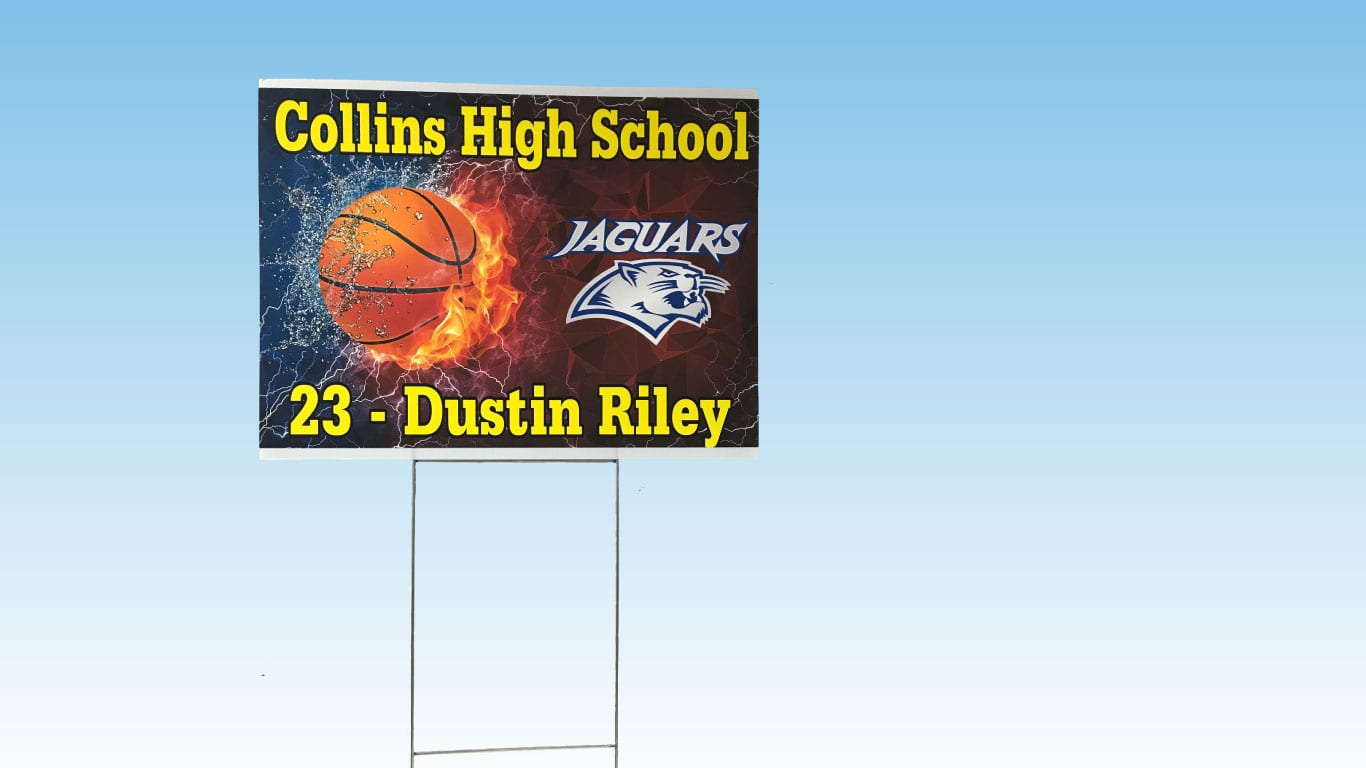 School yard sign printed by the color pro ultra and xl