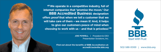 J powell and BBB testimonial